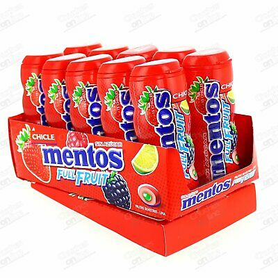 Chicles Mentos Gum Fruit Estuche 10 Paq. 30Gr Chicle