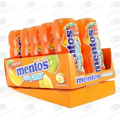 Chicles Mentos Gum Tropical Estuche 10 Paq. 30 Gr Chicle