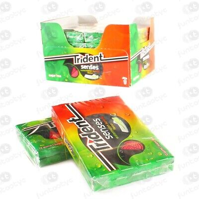 Chicles Trident Senses Watermelon Estuche 12 Paq. De 14 Chicles