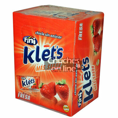 Chicle Klets Fresa Estuche 200 Chicles