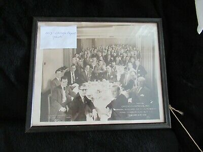 Vintage Circa 1958 Photograph Chicago Express Trucking company Managers & Sales