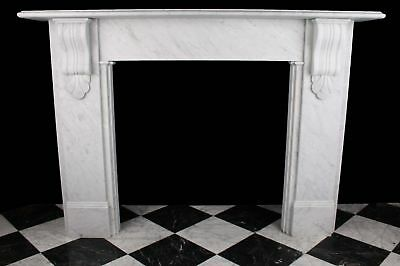 Large Firesurround Victorian Corbel in the 1870 Style in White Carrara Marble