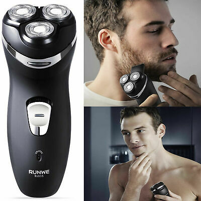 Mens Trimmer Rotary Shaver Cordless Rechargeable Razor Electric Wet Dry Shaving