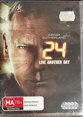 24 Live Another Day (DVD, 2014, 4-Disc Set) Kiefer Sutherland BRAND NEW & SEALED