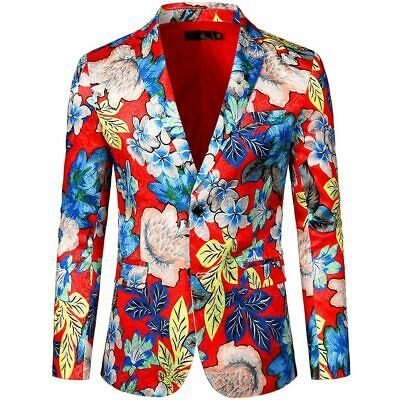 Jacket Men's High-quality Wool Coat Dress Floral Suit Notched Lapel Slim Fit