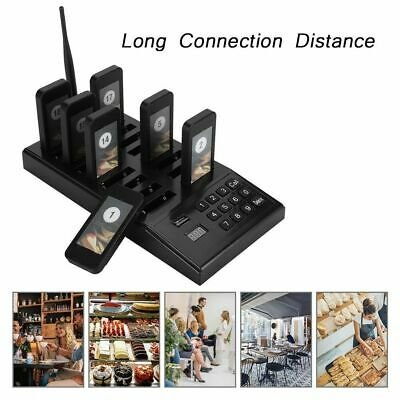 Restaurant Queuing Paging Equipment 999 Channels Keypad +18x Call Coaster Pagers