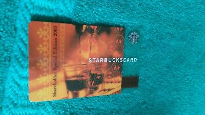 The 1st!! RARE! STARBUCKS 2003 Limited SHAREHOLDER Gift Card Aged But Nr MINT