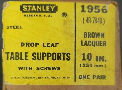 Pair of Vintage Stanley Drop Leaf Table Support no.1956
