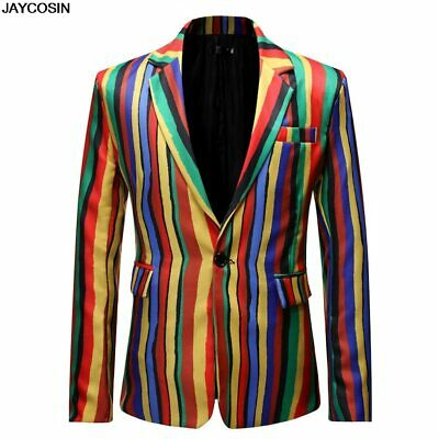 MANVIEW Jackets 2019 hot coats Men's Dress Striped Suit Notched Lapel Slim Fit
