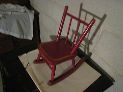 vintage/antique dolls(child) rocking chair