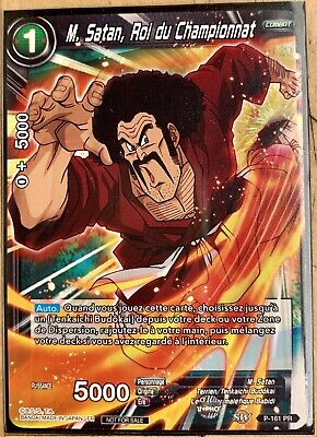 Carte Dragon ball Super Card Game M.Satan Roi du Championnat P-161 PR Promo DBS