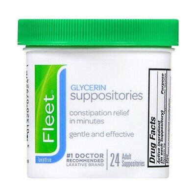 Fleet Glycerin Laxative Suppositories, Adult, 24 ea (Pack of 5)