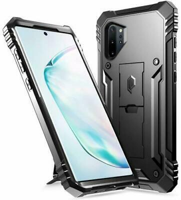 Galaxy Note 10 Plus Case,Poetic® Dual Layer Shockproof Kick-stand Cover Black