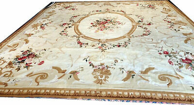 "A Stunning Mid 19th Century 13'-7"" x 15'-6"" French Aubusson  Rug"