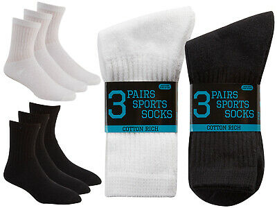 Plain Sports Socks Boys Girls Multi Pack Everyday Cotton Rich School Socks Cheap