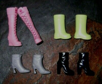 BARBIE DOLL SHOES n42 - 4 PAIRS of ASSORTED BOOTS