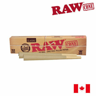 RAW Classic Pre-Rolled Rolling Paper Cone King Size - 32/Pack