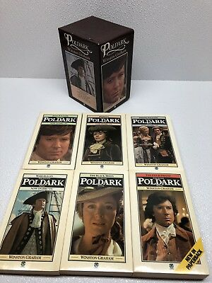 Boxed Set of 6 Poldark books SIGNED Author WINSTON GRAHAM BBCTV Tie-In FREE SHIP