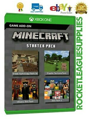 Minecraft Starter Pack Download Code DLC Add On for Xbox One (Worldwide)