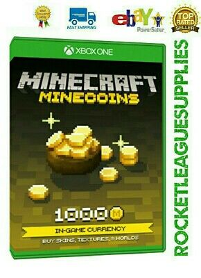 Minecraft 1000 Minecoins Download Code DLC Add On for Xbox One (Worldwide)
