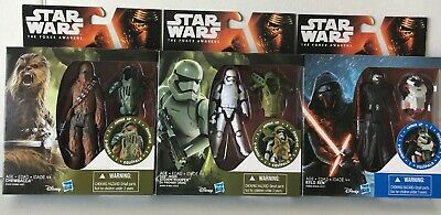 Lot Of 3 Star Wars The Force Awakens Action Figures Chewbacca Stormtrooper Kylo