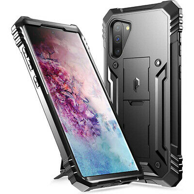 Galaxy Note 10 Case,Poetic® Dual Layer Shockproof Kick-stand Cover Black