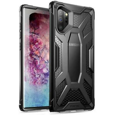 Galaxy Note 10 Plus Case Poetic® Lightweight Clear Bumper Protective Cover Clear