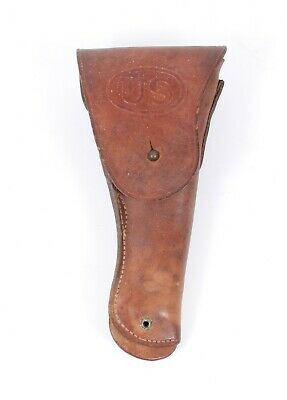 WWII US ARMY M1911 COLT 45 LEATHER HOLSTER By MILWAUKEE SADDLERY Co 1942