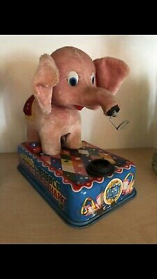 Blechspielzeug Elefant Automat Battery Operated Japan tin toy