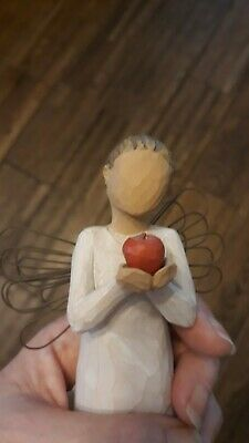 Lovely Willow tree figure - red apple. You're the best. ideal teacher xmas gift