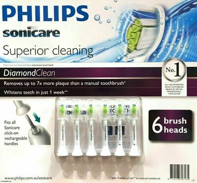 Philips Sonicare DiamondClean/Optimal White Tooth Brush Replacement Heads 6 Pack
