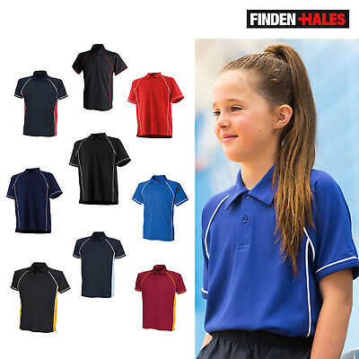 Finden /& Hales Childrens//Kids Short Sleeve Performance Sports T-Shirt RW4157
