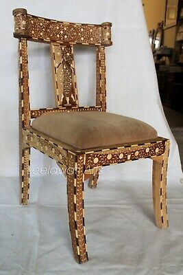 Pleasant Handmade Indian Camel Bone Inlay Modern Antique Wooden Pdpeps Interior Chair Design Pdpepsorg
