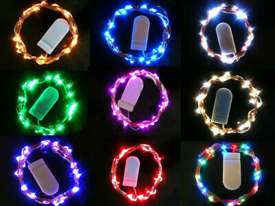 20 40 LED Battery Button Micro Rice Wire Silver Fairy String Lights Party White