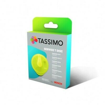 Original Tassimo Bosch Braun Yellow Service T-Disc Descaling Cleaning Descaler