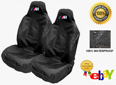 BMW M Sport Pair Of Car Seat Covers Protectors x2 / Fits BMW 1 Series Sport