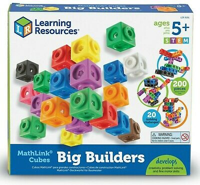 Learning Resources Mathlink Cubes Big Builders 200 Cube Set