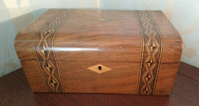 Large Antique Inlaid Tunbridge Ware Box