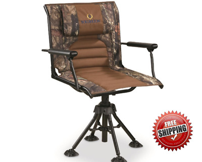 360 Swivel Hunting Chair Armrest Blind Camo Foldable Portable 300 Lb Capacity