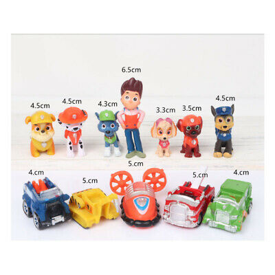 12pcs/Set Paw Patrol Cake Toppers Action Figures Puppy Patrol Dog Kids Toy Gifts