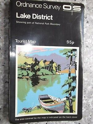 Ordnance Survey One-Inch Tourist Map Lake District..