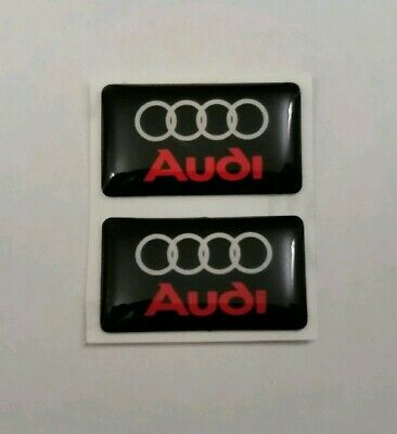 Audi 3D Domed Badge Logo Emblem Sticker Graphic Decal A3 A4 A5 S3 S4 Rs3 Rs4 Q5