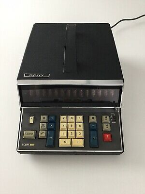 Sony SOBAX ICC-600E Solid State Calculator