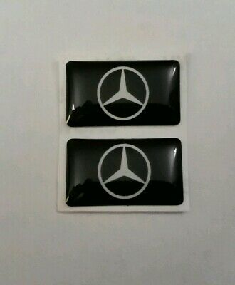 Mercedes Benz 3D Domed Badge Logo Emblem Sticker Graphic Decal A B C E S Class