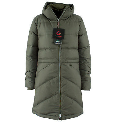 brand new 7bc2e 366bb MAMMUT DAMEN STEPPJACKE 1013-00200 Fedoz IN Hooded Iguana Grün / S / Jacke