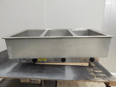 """Atlas 3-Bay Electric Drop-In Steam Table, New """"Scratch & Dent"""", WH-DW-3"""