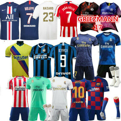 Custom Football Outfit Strips Youth Soccer Suits Training Kits For Kids uk new