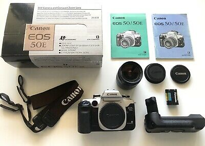 Canon EOS 50E camera in box Battery Grip Excellent Condition