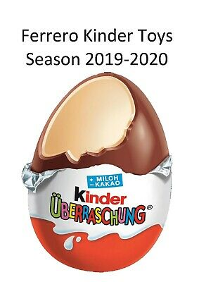 Ferrero Kinder Toys Season 2019-2020, DV, single pieces and full sets