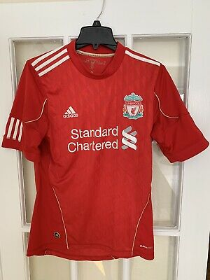 new products 7bf9c b8f39 ADIDAS STANDARD CHARTERED Liverpool Jersey Small
